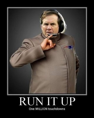 Bill Belichick running up the score