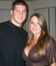 Tim Tebow with Google girl - 2018 NFL Mock Draft Updated 2/21